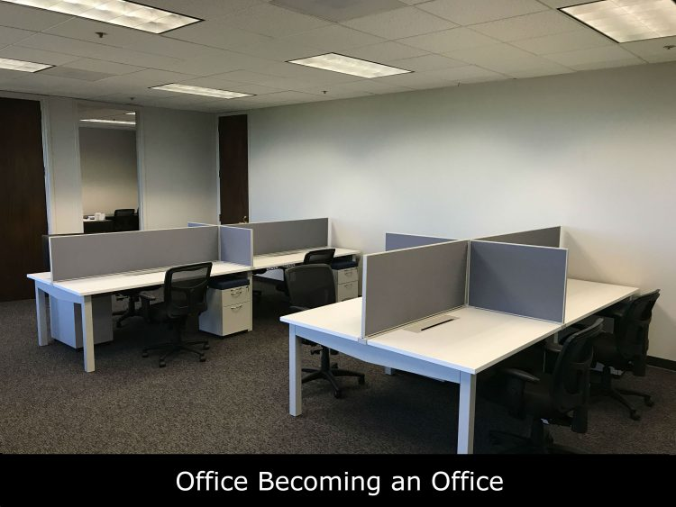 A Office Becoming an Office